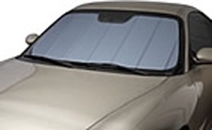 Covercraft UVS100 - Series Custom Fit Windshield Shade for Select Mercedes-Benz SL Class Models - Triple Laminate Construction (Blue Metallic)