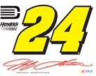 NASCAR JEFF GORDON OFFICIAL LOGO 4″x6″ ULTRA DECAL WINDOW CLING