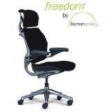 Humanscale Freedom Task Chair, Graphite Frame, Headrest, Standard Gel Armrests, Standard Seat, Standard Height, Wave Black Fabric