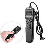 RS-80N3 Shutter Release LCD Wired Timer Remote Control Switch for Canon EOS-1V/1VHS EOS-3 EOS D2000 D30 D60 1D 1Ds 1D Mark II/III/IV 5D Mark II 5DS EOS-10D 20D 20Da 30D 40D 50D (Black)