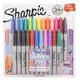 Sharpie Fine-Tip Permanent Marker, 24-Pack Assorted Colors (Electro Pop Colors)