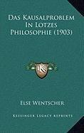 Das Kausalproblem in Lotzes Philosophie (1903)