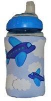 Kidzies Huggerz, Child'S Drink Sippy Cup Bottle Insulator, Flying Planes Design front-720336