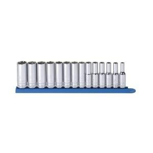GearWrench 80554S 14-Piece 3/8-Inch Drive 6-Point Mid Length Socket Set Metric