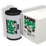 HP5 400 Plus Black and White Negative Film 4 x 5, 25 Sheets