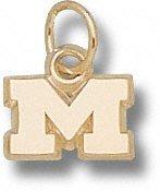 Michigan Wolverines 10K Gold ''M'' 1/4'' Pendant