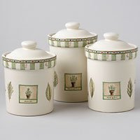 Pfaltzgraff Naturewood Small Sealed 3pc Canister Set