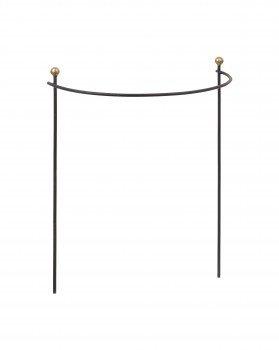 handgefertigter staudenhalter aus eisen halbrund 80x38 cm. Black Bedroom Furniture Sets. Home Design Ideas