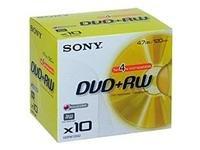 Sony DPW 120A – 10 x DVD+RW – 4.7 GB 1x – 4x – jewel Case – storage media