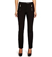 Per Una Roma Faux Leather Trim Slim Leg Trousers