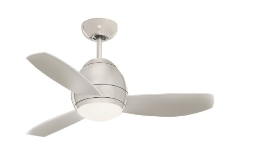 """Emerson Cf244Bs 44"""" Curva Ceiling Fan - Blades, Light Kit And Remote Included, Brushed Steel front-394687"""