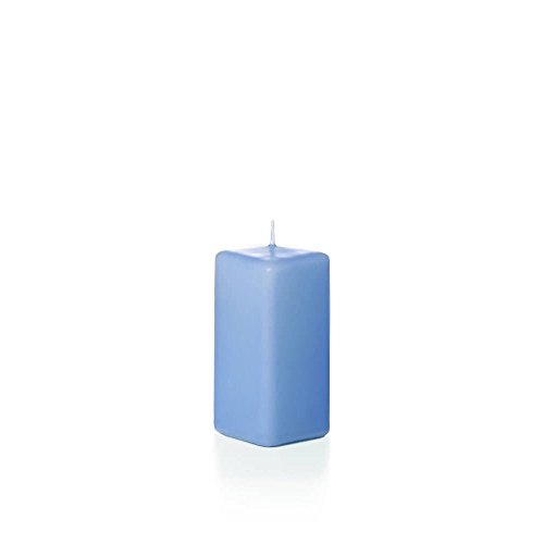 Yummi Unscented Square Pillar Candles 2.25