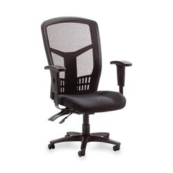 Lorell Executive High-Back Chair, Mesh Fabric, 28-1/2