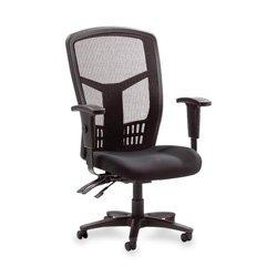 Lorell Executive High-Back Chair, Mesh Fabric, 28-1/2