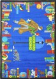 "Joy Carpets Kid Essentials Language & Literacy Look Into Reading Rug, Multicolored, 5'4"" x 7'8"""