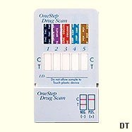 Six Drug (THC/Coc/Opi/Amph/Mamph/Benzo) Dip Test (2 tests kits) with confirmation service.