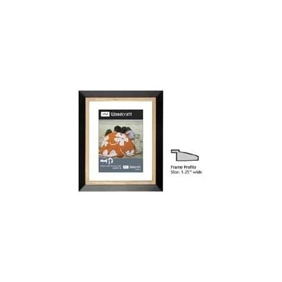 Milburn Woodcraft Series 5 x 7 Wood Frame for a 3.5 x 5 Photograph, with a 1-?Ш Wide Molding, Color: Classica Black