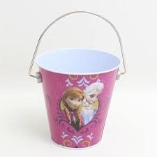 Disney Frozen Anna & Elsa Frozen Princesses Tin Bucket Party Favor - 1