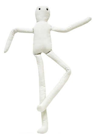 Set Of Tall And Skinny Stuffed Muslin Craft Dolls With Wire Arms And Legs- Set Of 2 Dolls