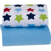 Garanimals Cotton Crib Sheets 2-pack Blue - 1