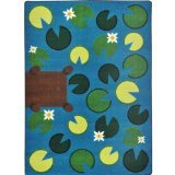 "Joy Carpets Kid Essentials Early Childhood Playful Pond Rug, Multicolored, 3'10"" x 5'4"""