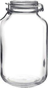 Bormioli Rocco Fido Round Clear Jar, 135.25-Ounce