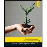 Clinical Psychology A Modern Health Profession by Linden, Wolfgang, Hewitt, Paul [Pearson,2011] [Hardcover]