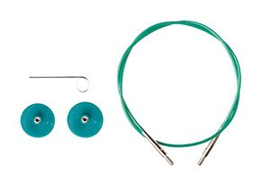 Options Interchangeable Circular Knitting Needle Cables - Green Cables