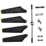 Syma S109G Full Set Replacement Parts, Main Blades, Connect Buckles, Tail Blade,Balance Bar, Spare Main Grips