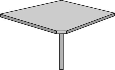 Office akktiv Estado concatenación mesa-90°, incluye pata Lichtgrau-Esquina placa placa Estado Estado Oficina Muebles programa mesa concatenación Conexión placas concatenación verkettungen conc