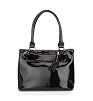 M&S Collection Patent Tassel Tote Bag