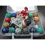 WOWcosplay 18 New Bakugan &18 Metal Card in Bakucase All Different Amazing Gift By World Cup Trophy