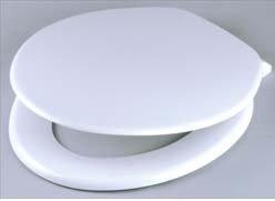 Bemis Plain French White Toilet Seat - Comes With Fittings