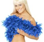 Feather Boa Deluxe Royal Blue 2yds 80g