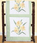 Stamped White Jonquil Quilt Blocks, 6-Pack