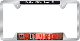 D.C. United Metal License Plate Frame by Hall of Fame Memorabilia