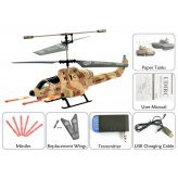 Cobra iHelicopter iPhone/iPad/iPod Touch/Android Phone Controlled RC Helicopter (Desert Camouflage)