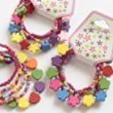 Wooden Seed and Bead Bracelets Set of 5 for Children
