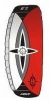 Sigma Spirit mit Controlbar, Lenkdrachen Tractionkite 3,0 rot
