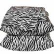 Xhilaration Full Size Sheets Black & White Zebra Stripes Sheet Set Double Bed front-705867