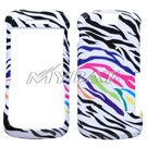 Rainbow Zebra Print Design Snap-on Faceplate Case Cell Phone Cover For Motorola Clutch i465 (Comes With AmericWireless Pin)