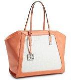 Calvin Klein Womens Eliza Winged Shopper Tote Bag Handbag