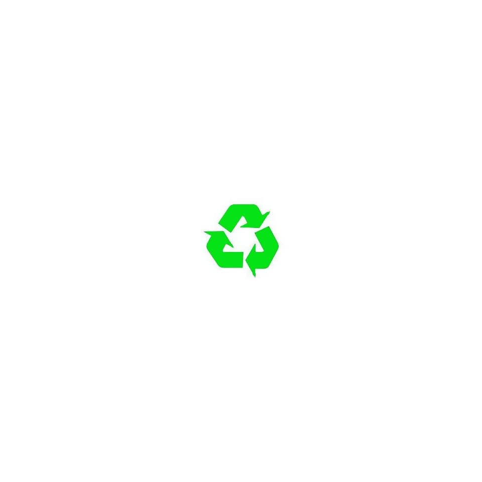 Recycling Symbol green vinyl cut out sticker 4.5 Window Decal Wall Sticker