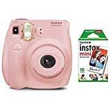 fujifilm instax Mini 7s Light Pink + 10 Exposures Instant Film Camera (New) (Color: starter bundle light pink)
