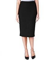 M&S Collection Knee Length Textured Ponte Pencil Skirt