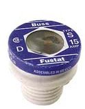 Bussmann S-3-1/2 3-1/2 Amp Type S Time-Delay Dual-Element Plug Fuse Rejection Base, 125V UL Listed, 4-Pack