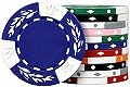 25 Clay No Metal Insert Premium Quality Crown Wheatear 11.5 gram Poker Chips, Choose from 9 colors