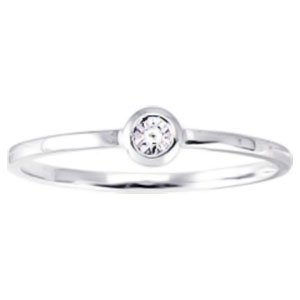 So Chic Jewels - Ladies 9k White Gold 0.006 ct Diamond Solitaire Engagement Ring