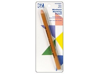 Wrights/EZ Marking Pencil Washout White (6 Pack)