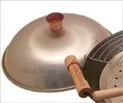 Wok Shop Aluminum Dome Wok Cover,15 Inch (for 16
